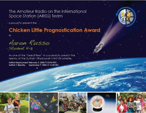 ARISS_award_AMRAD1